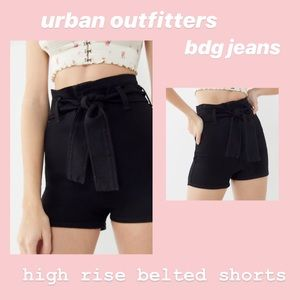 UO BDG Belted High-rise Pinup Shorts - Black